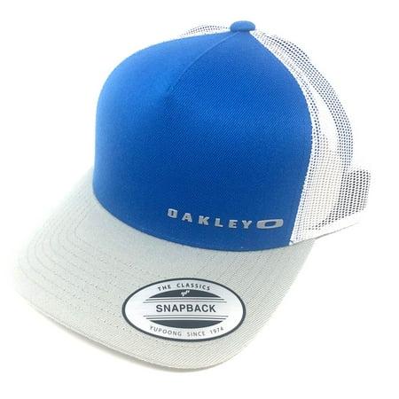 Oakley Men's Halifax Mesh Trucker Hat Cap - Electric Blue (Barbour Cap)