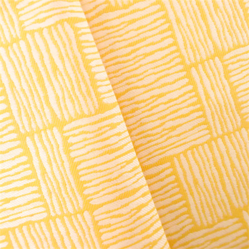 Yellow/White Linear Contemporary Jacquard Upholstery Fabric, Fabric By the Yard