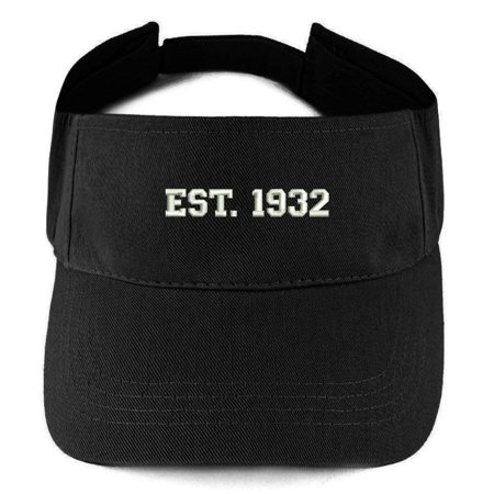 - Trendy Apparel Shop EST 1932 Embroidered - 86th Birthday Gift Summer Adjustable Visor