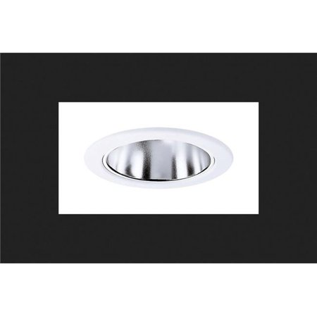 RE-4003SC 4 in. Clear Recessed Lighting Specular Reflector with Trim Ring - White (Specular Clear Reflector)