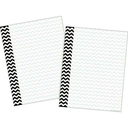 Barker Creek Black Chevron Computer Paper ̶ 100 Sheets
