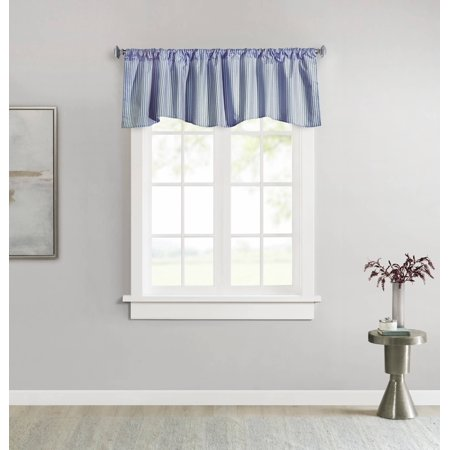 ThermaLogic Ticking Stripe Insulated Scalloped Valance