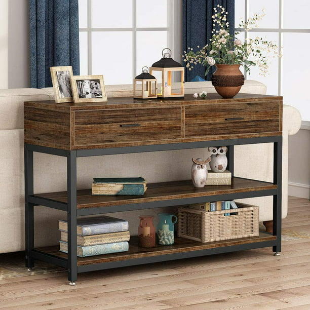 Tribesigns Rustic Console Table, Tv Stand Sofa Table