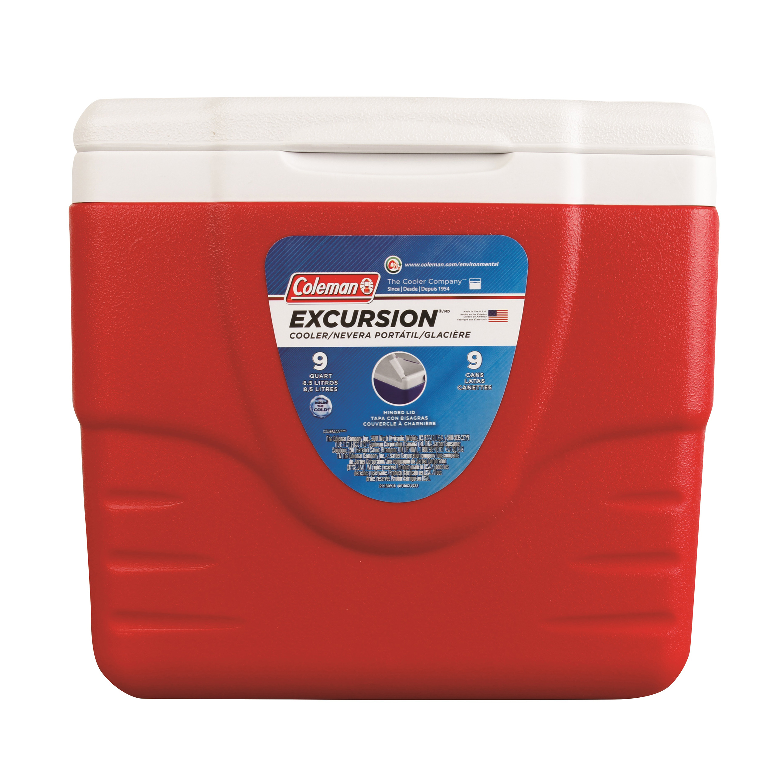 Coleman Cooler 9-Quart without Tray, Red