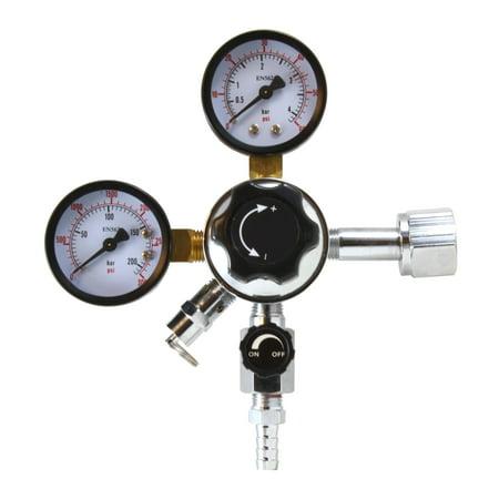 CO2 Regulator for Beer and Soda Keg and Dispensing System - CGA-320 (Large Beer Keg)