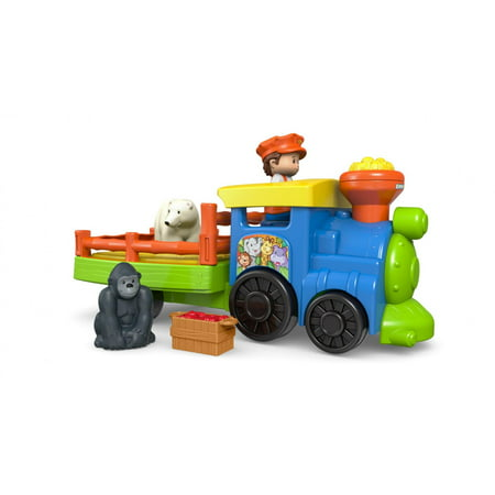 Little People Choo-Choo Zoo Train with Conductor and - Little Farmhouse Toy