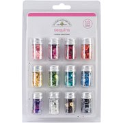 Kraft In Color Assorted Sequins, Rainbow, 12 Colors