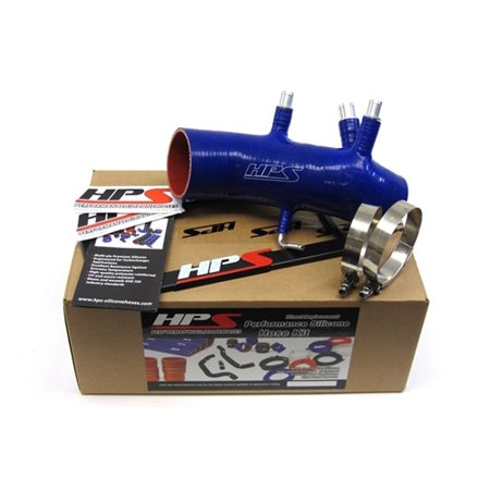 Hps Air Intake Kit (HPS Blue Reinforced Silicone Post MAF Air Intake Hose Kit for Toyota 86-92 Supra 7MGTE Turbo )
