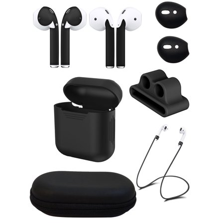 Ultimate AirPod Accessory Pack - AirPod Skins, Charging Case, Straps, Watch Band Holder, Eartips and Hardshell Case