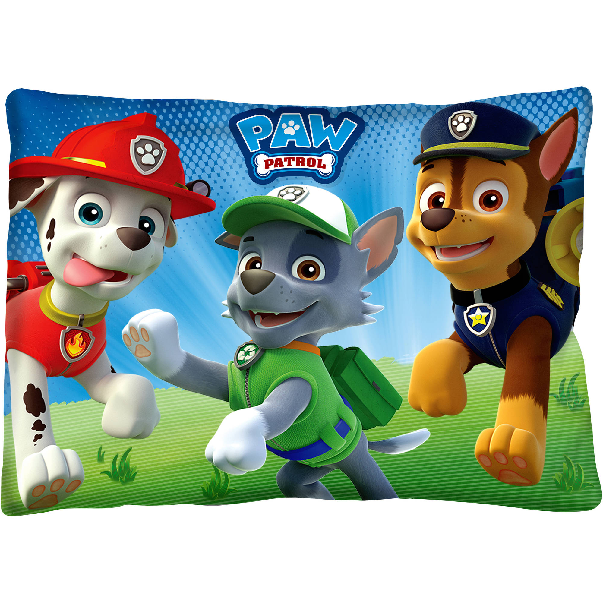 "Paw Patrol ""Bark Park"" Kids Bed Pillow"
