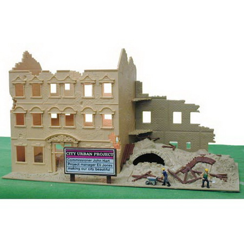 Model Power 579 HO Scale Built-up Urban Renewal Building