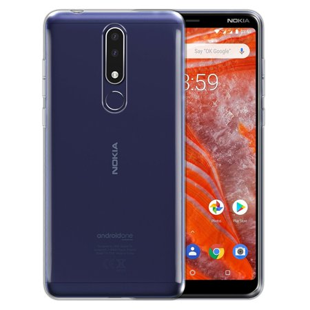 FINCIBO Soft TPU Clear Case Slim Protective Cover for Nokia 3.1 Plus 2019 6
