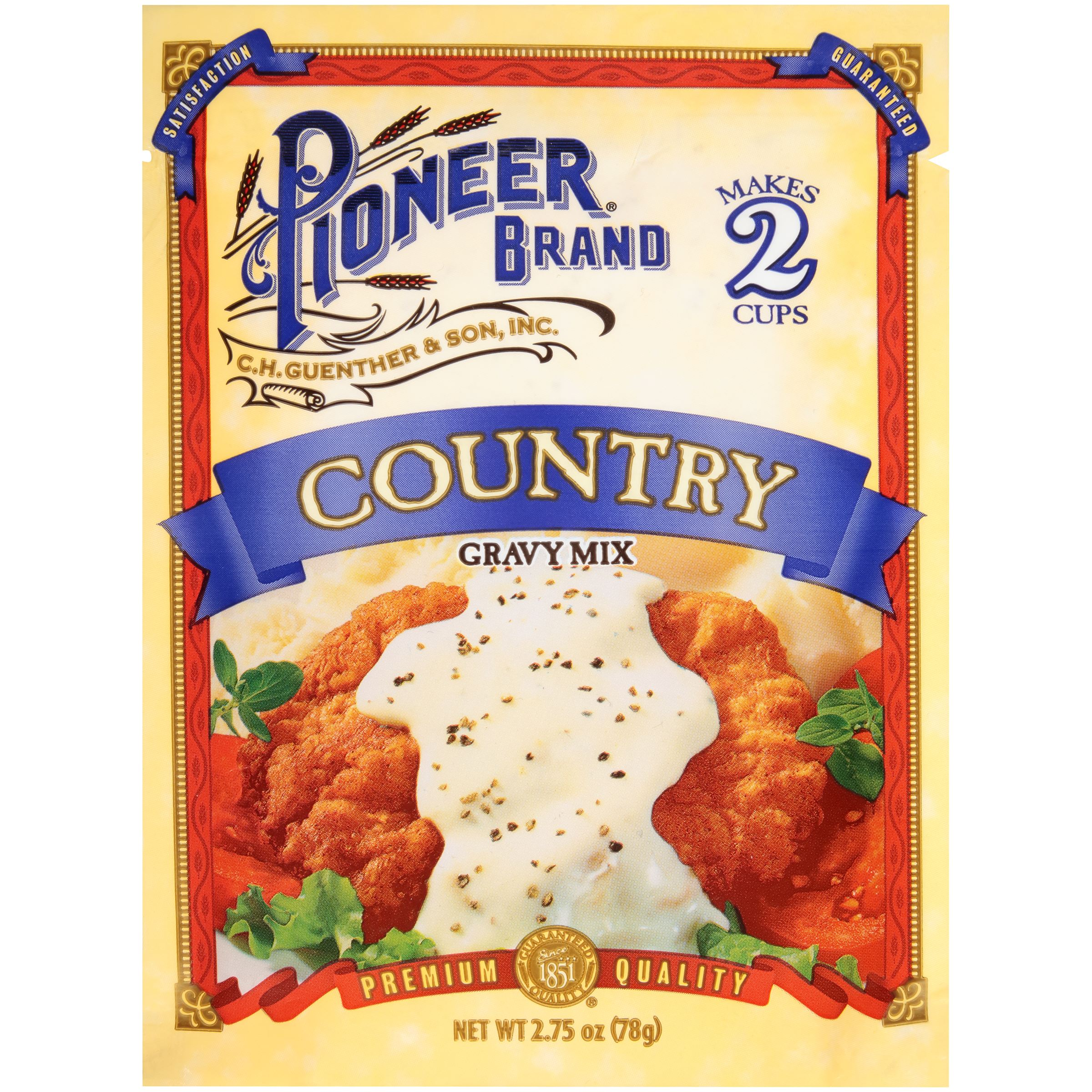 (4 Pack) Pioneer Country Gravy Mix, 2.75 oz