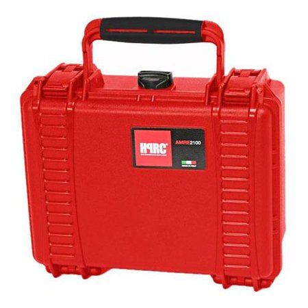 "HPRC AMRE 2100F Ultralight, Watertight, Unbreakable Hard Case with Cubed Foam Interior, Red (ID: 8.46x5.91x3.74"")"