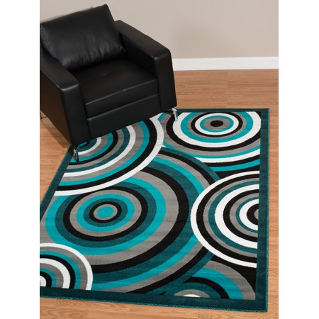 Woven Paisley Scroll - United Weavers Brasserie Capuccino Scroll Aqua Woven Olefin Area Rug or Runner