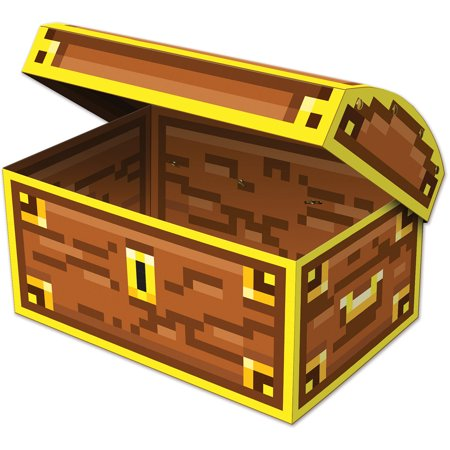 Pirate Buccaneer 8 Bit Treasure Chest Party Favor Storage Box Decoration