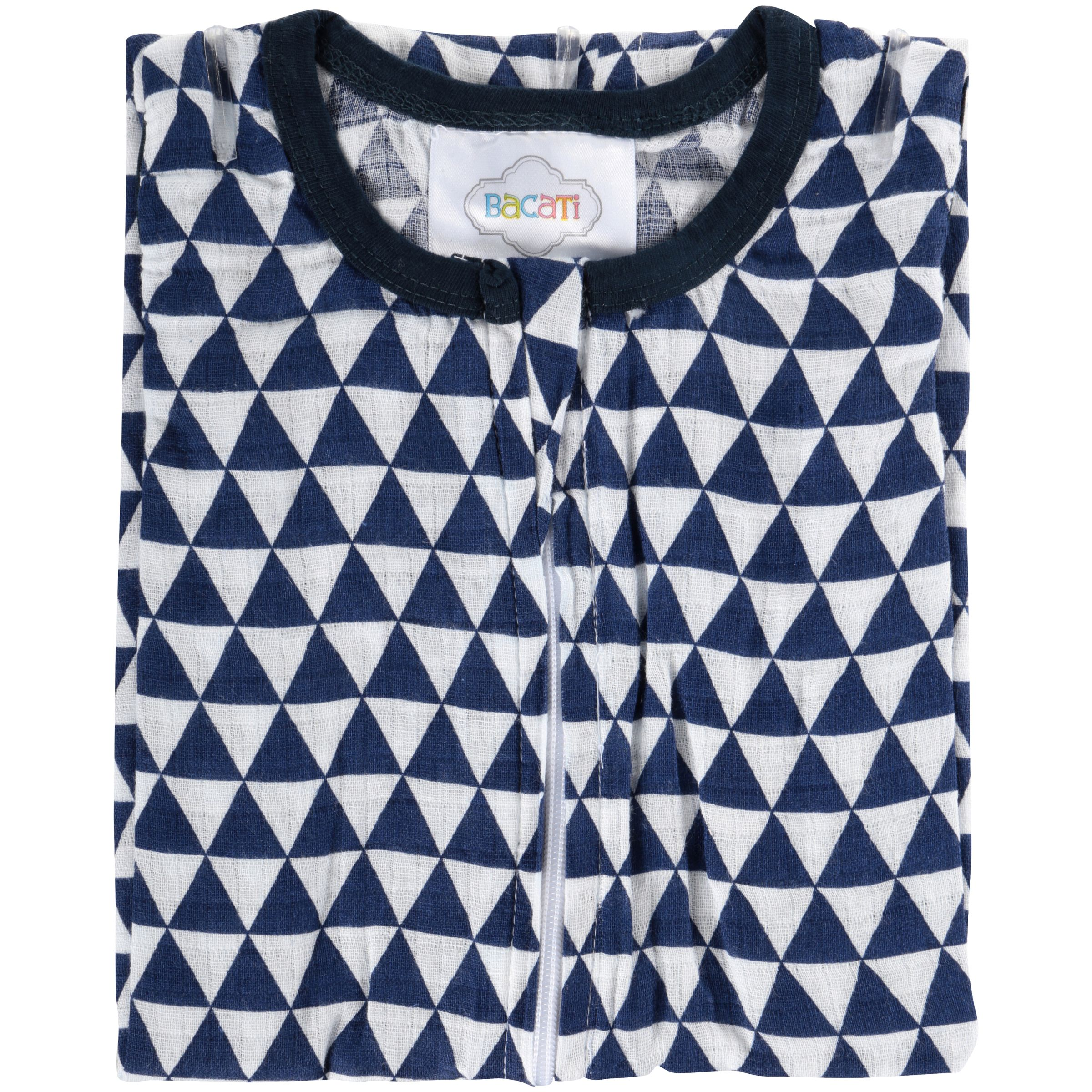 Bacati Newborn Wearable Blanket Tribal Navy Triangles