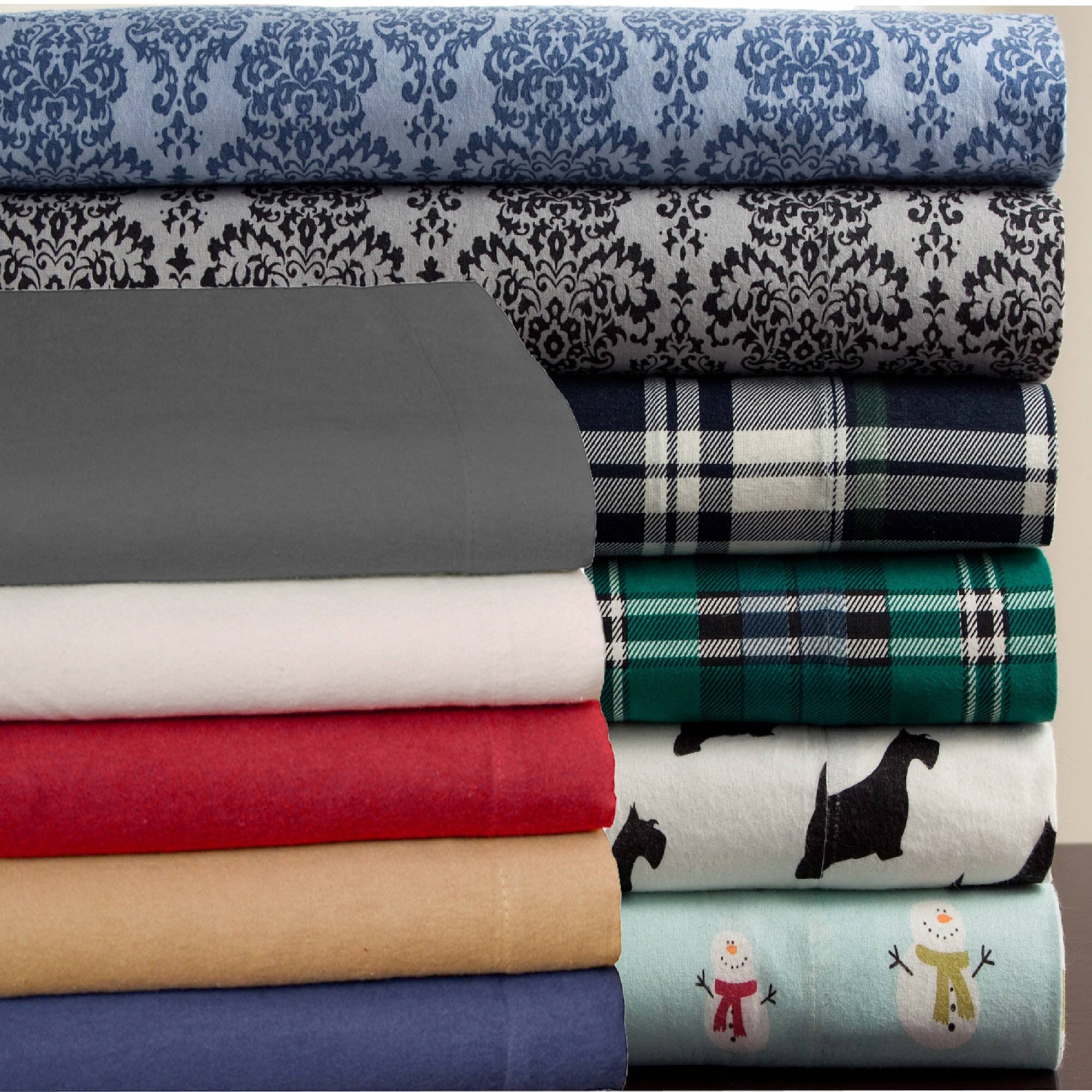 Elite Home Winter Nights Cotton Flannel Sheet Set