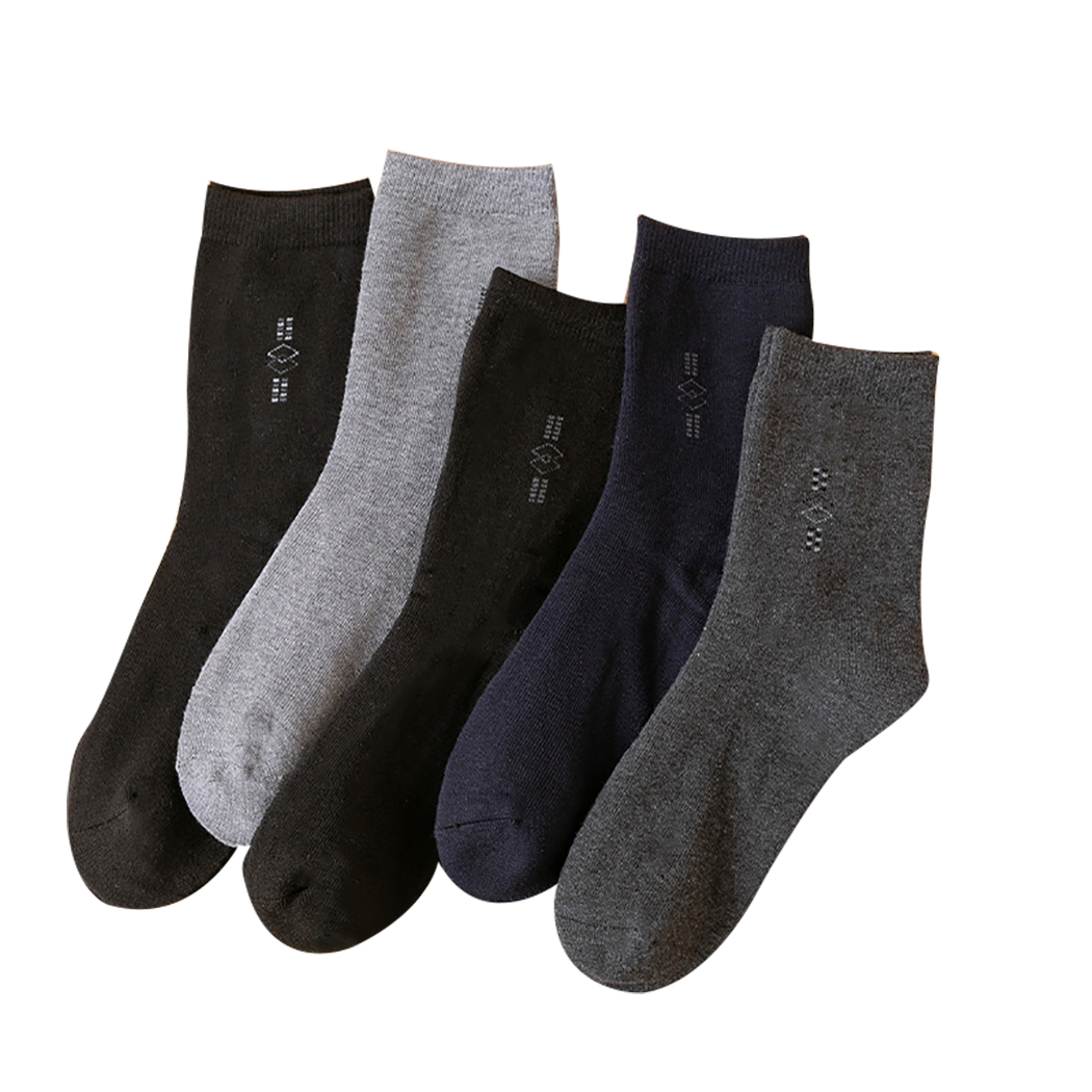 5 Pairs Mens Socks Pure Color Breathable Thick Cotton Crew Socks Athletic  Socks   Walmart Canada