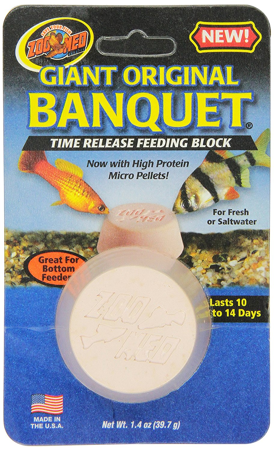 Laboratories AZMBB3 Giant Banquet Block Feeder, High protein micro pellets By Zoo Med by