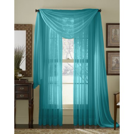 Qutain Linen Solid Viole Sheer Curtain Window Panel Drapes  55