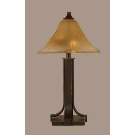 Toltec Lighting-577-DG-650-Apollo - Two Light Table Lamp  Dark Granite
