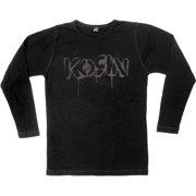 Korn Men's  Stencil Thermal  Long Sleeve Black