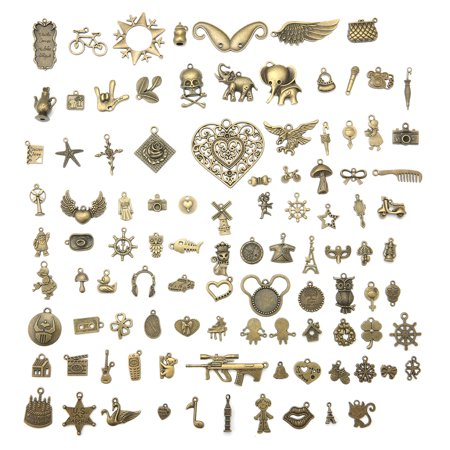 ARTISTORE 100 Pieces Alloy Mixed Charms Pendants DIY for Jewelry Making and Crafting Envelope decoration Bookmark Beaded Charm Bookmark Craft