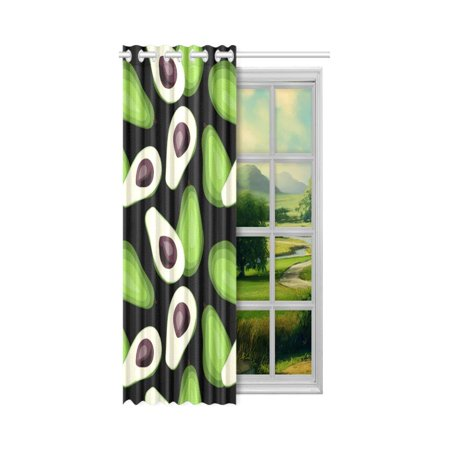 Yusdecor Avocado Blackout Window Curtain Drapes Bedroom Living Room Kitchen Curtains 52x84 Inch Walmart Canada