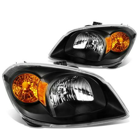 For 2005 to 2010 Chevy Cobalt / Pontiac G5 / Pursuit OE Style Headlight Black Housing Amber Corner Headlamp 06 07 08 09 Left+Right