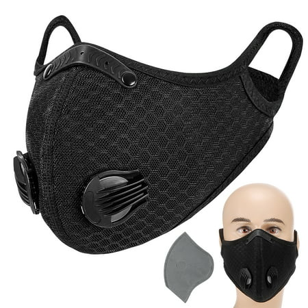 Adult Mask w/ Valve Active Carbon Filter Now $10.39 (Was $26)