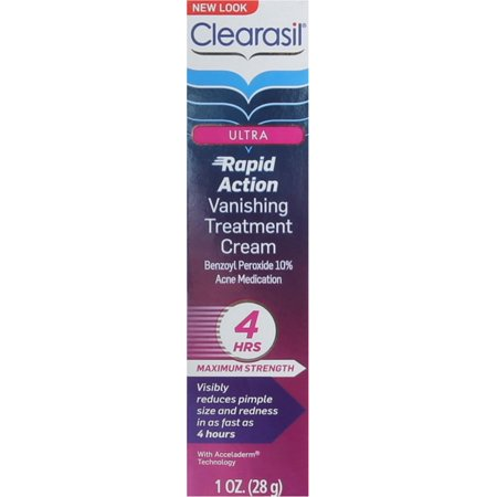 Clearasil Ultra Rapid Action Treatment Cream Vanishing 1 oz (Pack of