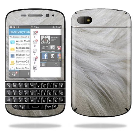 Furberries Furberries (Mightyskins Protective Vinyl Skin Decal Cover for BlackBerry Q10 Cell Phone SQN100-3 wrap sticker skins White)