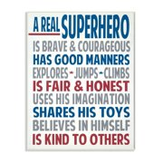 The Kids Room by Stupell Typography Art Wall Plaque, A Real Superhero Wall Plaqueby Words for the Soul