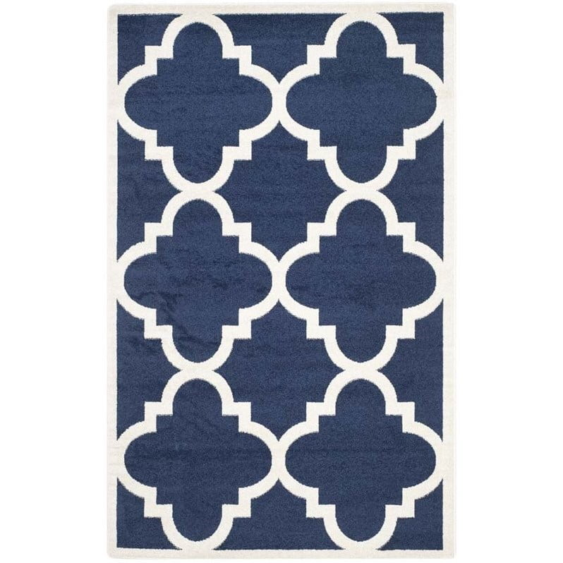 Safavieh Amherst Navy Indoor Outdoor Rug 8 X 10