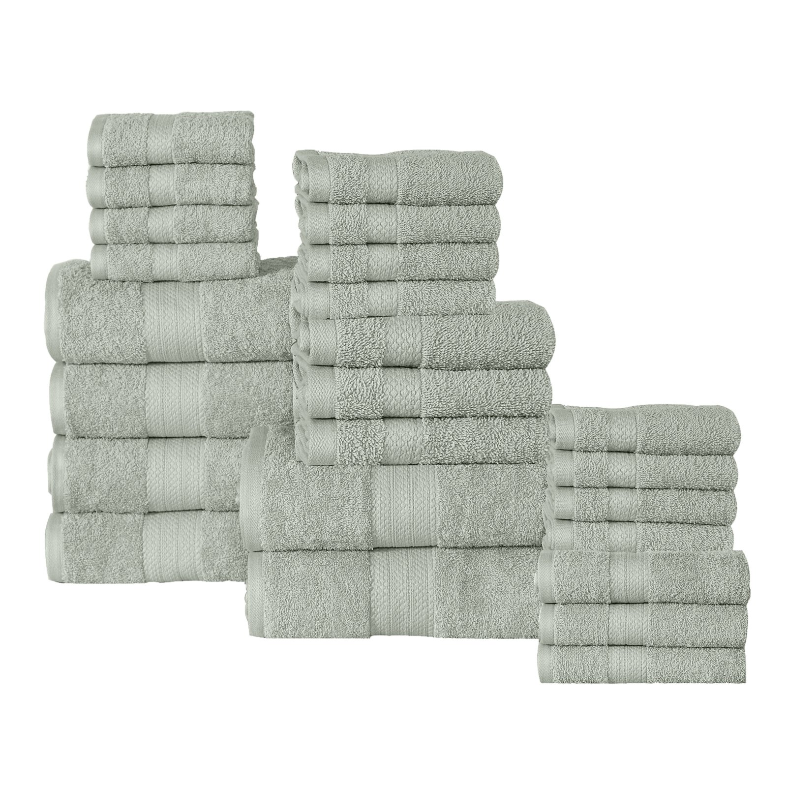 Affinity Linens 24 Piece Plush Cotton Bath Towel Set