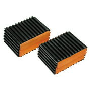 "Sunlite Pedal Blocks 1.5"", Black/Orange"