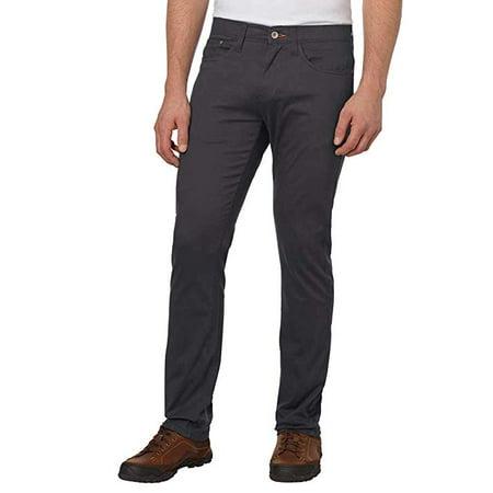 Weatherproof Vintage Men's 5 Pocket Twill Pant (36x32, Charcoal) - NEW