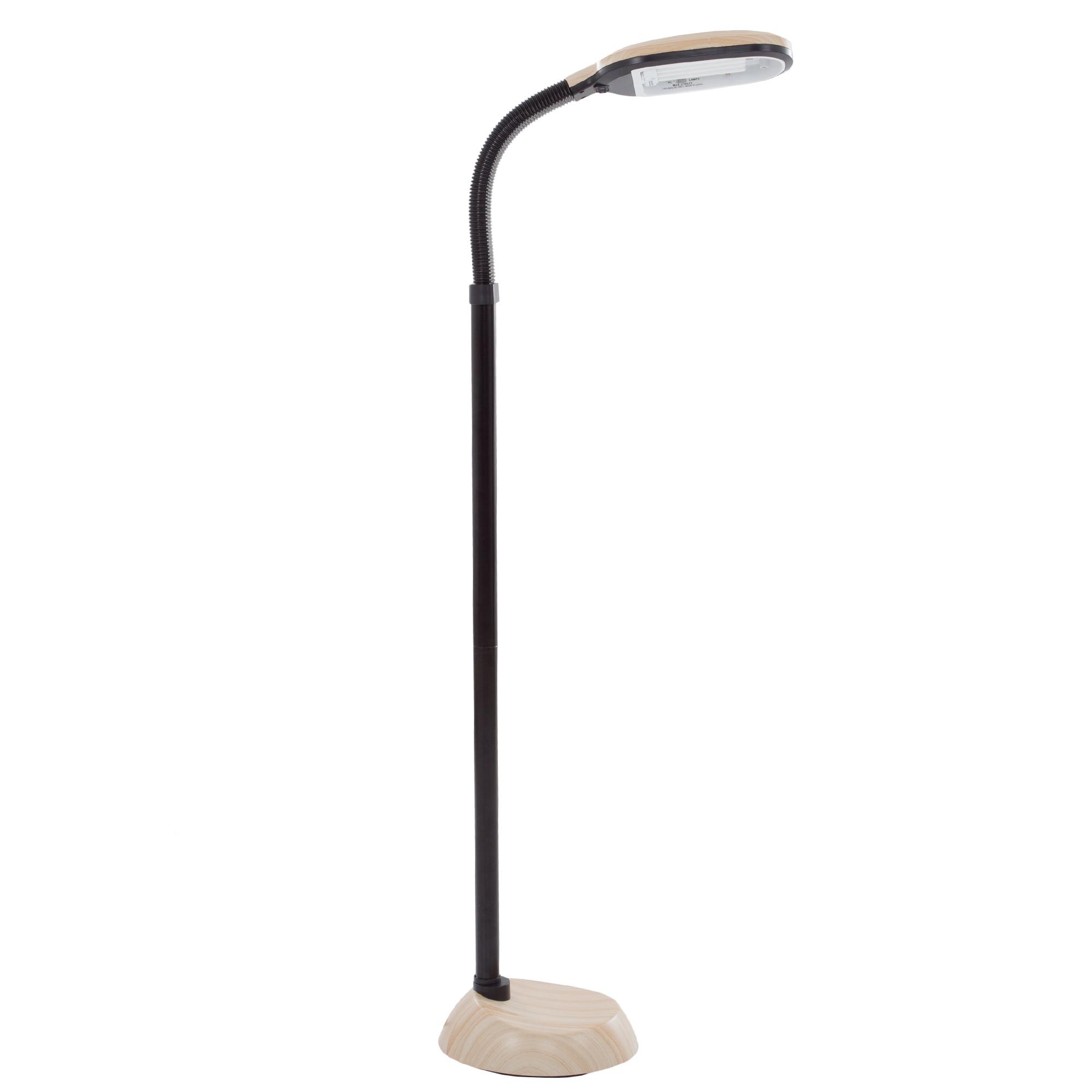 Lavish Home Light Wood Grain Sunlight 5' Floor Lamp