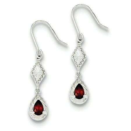 925 Sterling Silver Dark Red Cubic Zirconia Cz Drop Dangle Chandelier Earrings Fine Jewelry Gifts For Women For Her - image 6 de 6