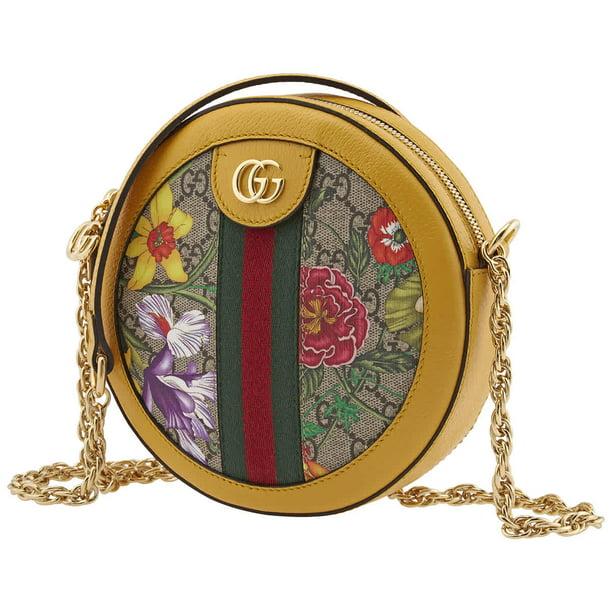 Gucci Ladies Ophidia GG Flora Round Shoulder Bag