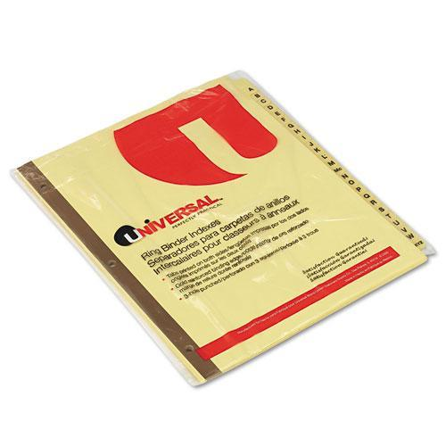 Universal Preprinted Plastic-Coated Tab Dividers, 25/Set (Set of 3)