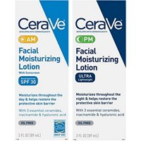 CeraVe Day & Night Face Lotion Skin Care Set | Contains CeraVe AM Face Moisturizer with SPF 30 and CeraVe PM Face Moistu