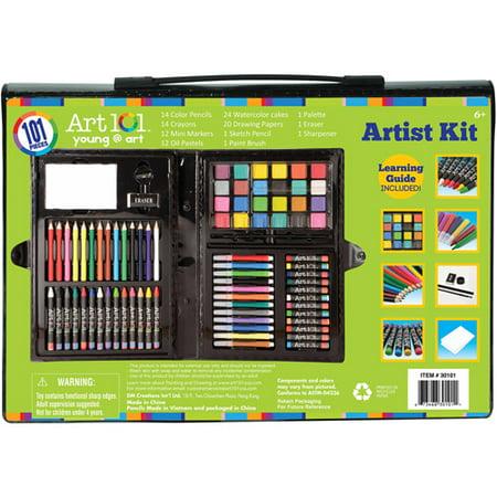 art 101 kids 39 101 piece artist kit. Black Bedroom Furniture Sets. Home Design Ideas