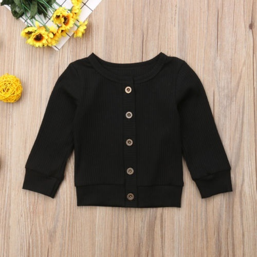 Children Baby Kids Girl Boy Knitted Sweater Sewing Cardigan Tops Outfit Colorful