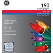 GE Pro-Line Connect 6 8mm Multi-Color Christmas Lights, 150 Count