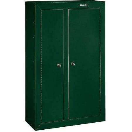 Stack On 10 Gun Double Door Security Cabinet Hunter Green