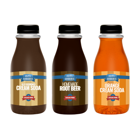 - Ralph's 3 SUGAR FREE Sparkling Water Sodamix Pack | Cream Soda | Root Beer | Orange Cream Soda | Three 12oz Bottles