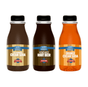 Ralph's 3 SUGAR FREE Sparkling Water Sodamix Pack | Cream Soda | Root Beer | Orange Cream Soda | Three 12oz Bottles