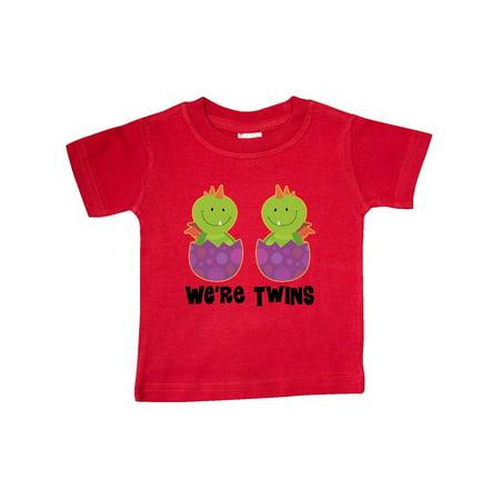 Twins Dragon Cute Boys Girls Matching Baby T-Shirt (Baby Dragon Girl)
